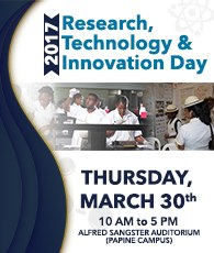 UTech, Ja. Research, Technology & Innovation Day 2017