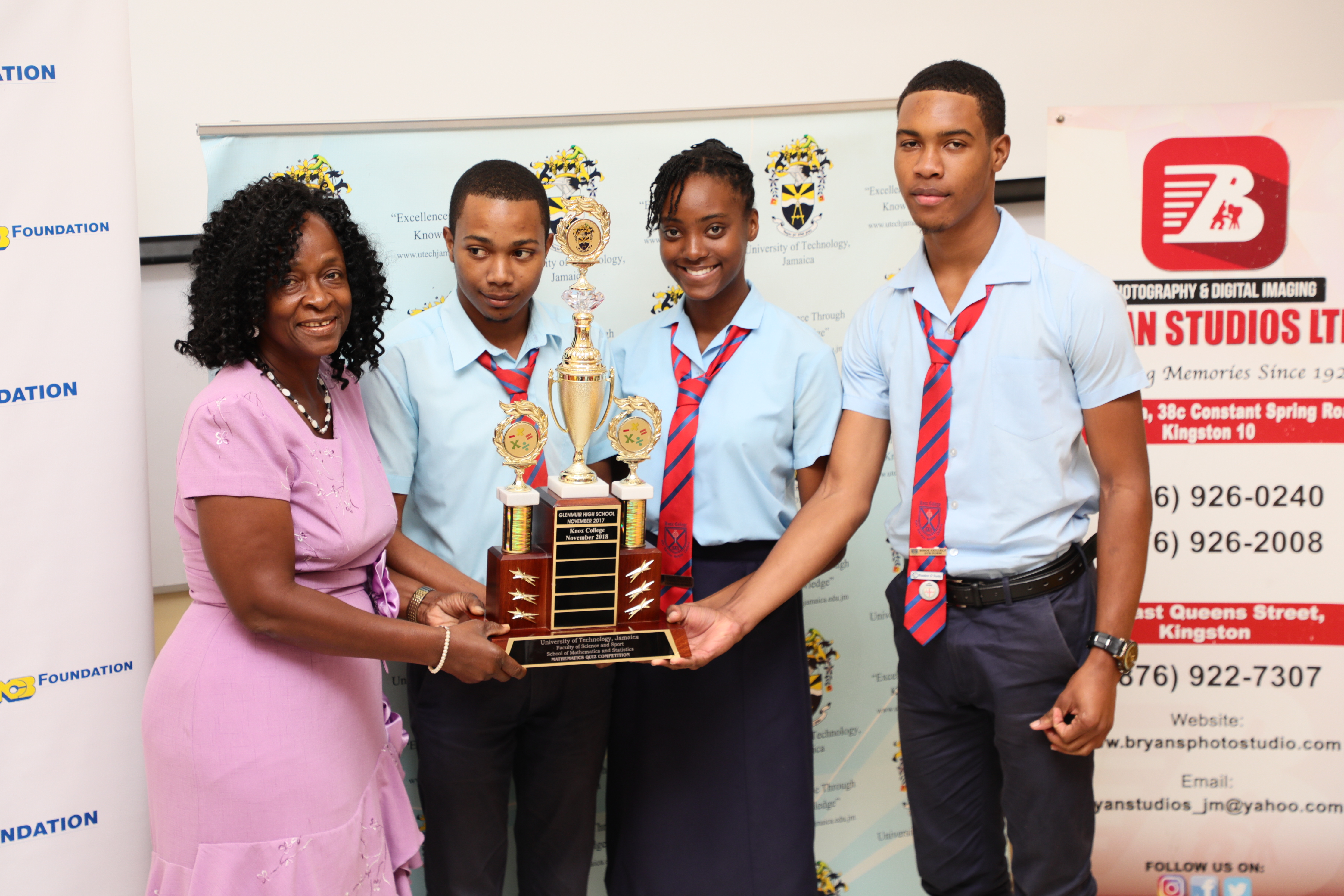 Knox College Wins 3rd Annual UTech, Jamaica Mathematics Quiz Competition