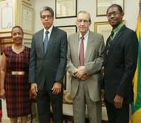New UTech, Jamaica Pro-Chancellor, Richard Powell Pays Courtesy Call on Chancellor